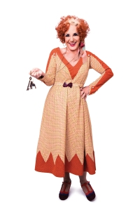 ANNIE - Lesley Joseph as Miss Hannigan. Photo credit Matt Crockett