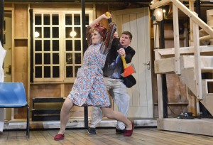 15A - Carla Mendonça (Dotty) and John Elkington (Freddy) - Noises Off April 2016