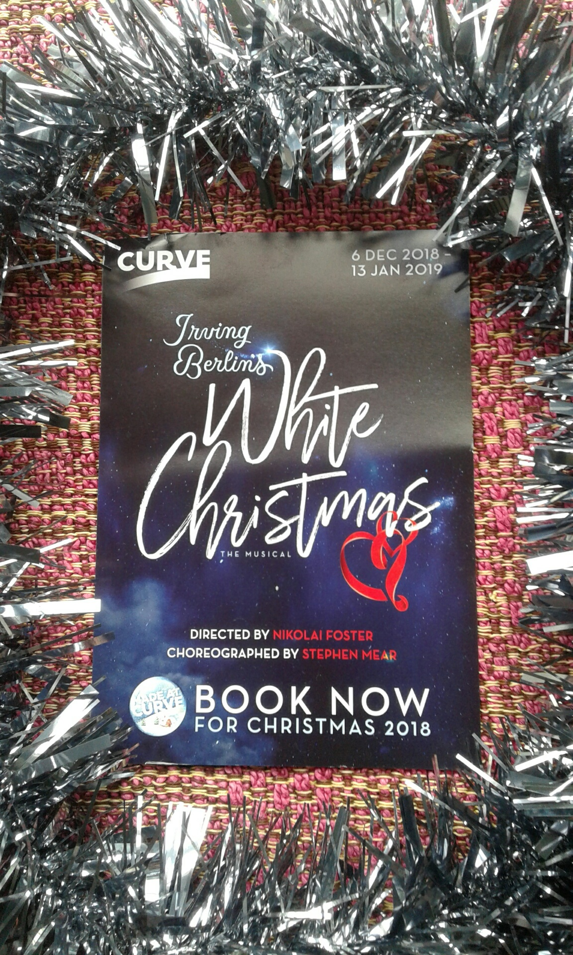 Curve Theatre Leicester 2018 White Christmas promo. | East Midlands ...