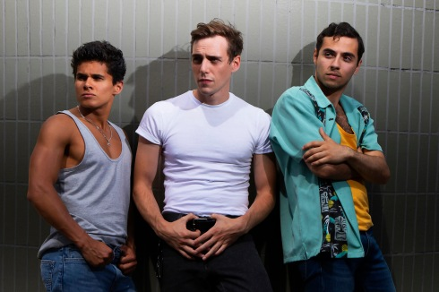 West Side Story_(L-R) Damian Buhagiar as Chino, Jamie Muscato as Tony and Jonathan Hermosa-Lopez as Bernardo_Ellie Kurttz
