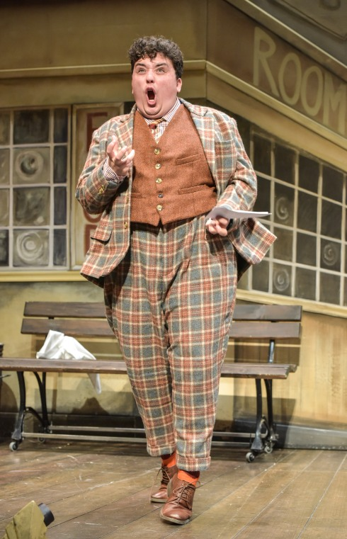 PRESS One Man, Two Guvnors at Derby Theatre (David O'Reilly as Francis Henshall)