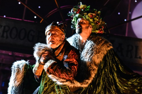 A Christmas Carol (Gareth Williams as Scrooge and James McLean as Ghost of Christmas Present 2)